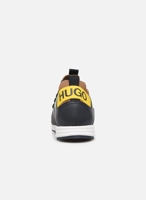 Baskets Hugo Hybrid_Runn_knbc Marron vue droite