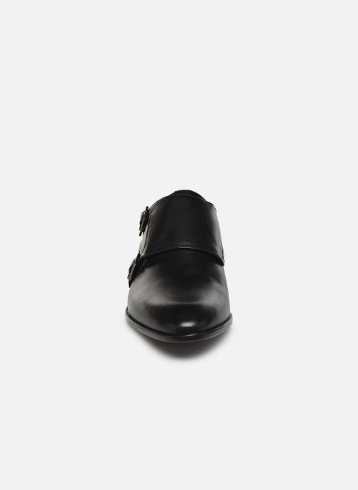 Mocassins Hugo Appeal_Monk_bu Noir vue portées chaussures