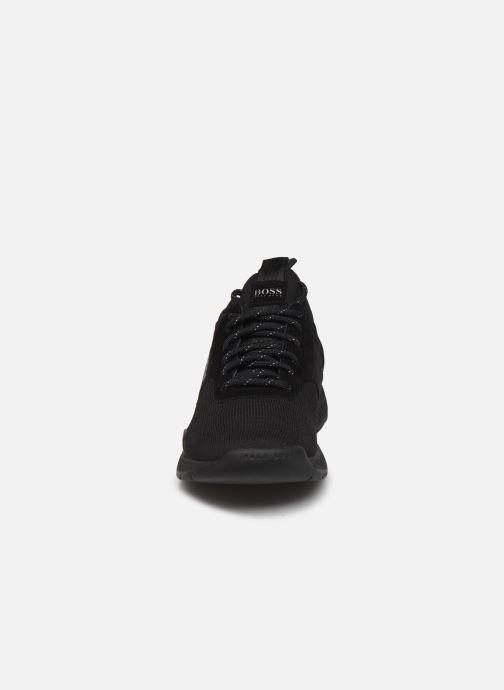 Baskets BOSS Titanium_Runn_knst 10220052 01 Noir vue portées chaussures