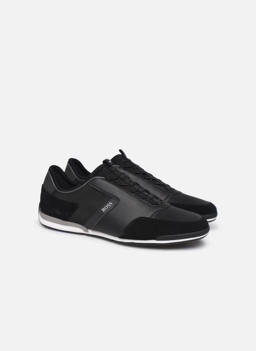 Trainers BOSS Saturn_Slon_nymx 10219013 01 Black 3/4 view
