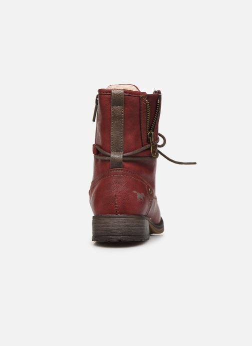 Bottines et boots Mustang shoes 5026619 Rouge vue droite