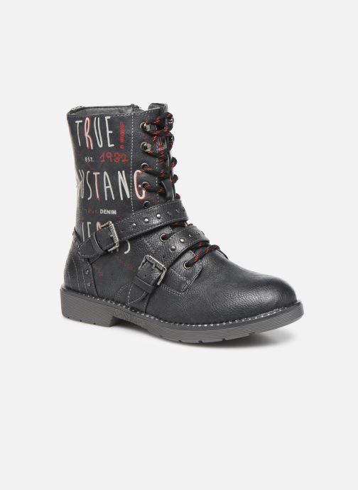 Bottines et boots Mustang shoes 5047605 Bleu vue détail/paire