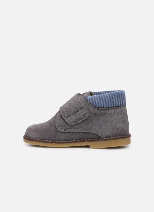 Chaussures à scratch Cendry Joseph Gris vue face