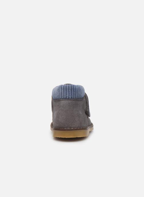 Chaussures à scratch Cendry Joseph Gris vue droite