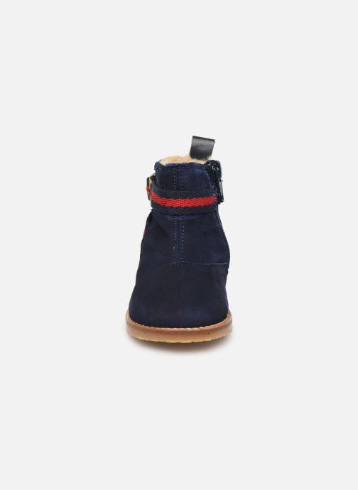 Stivaletti e tronchetti Cendry Morgane Azzurro modello indossato