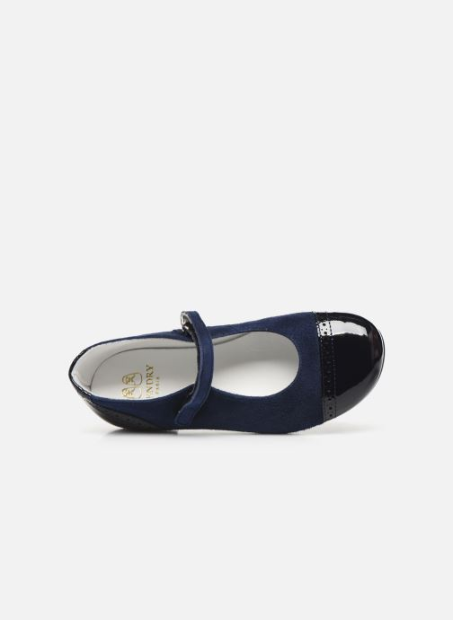 Ballet pumps Cendry Clemence Blue view from the left