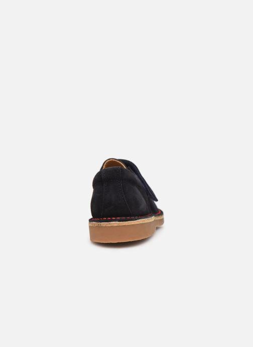 Zapatos con velcro Cendry Louison Azul vista lateral derecha