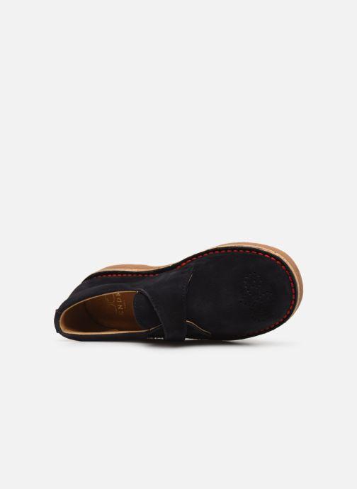 Zapatos con velcro Cendry Louison Azul vista lateral izquierda