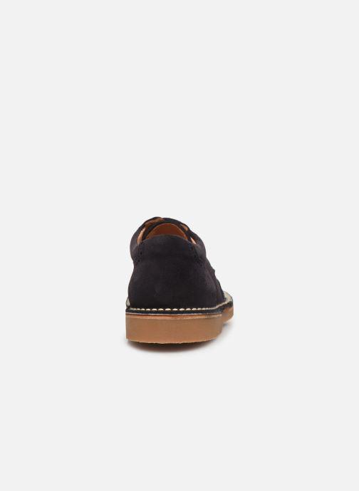 Zapatos con cordones Cendry Louis Azul vista lateral derecha
