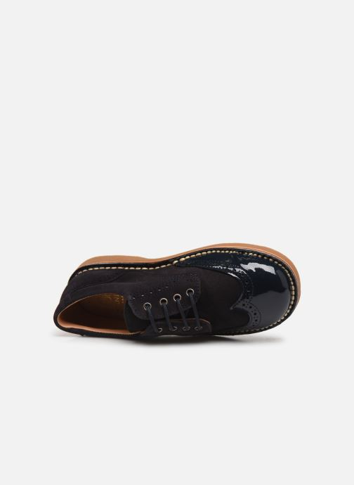 Zapatos con cordones Cendry Louis Azul vista lateral izquierda