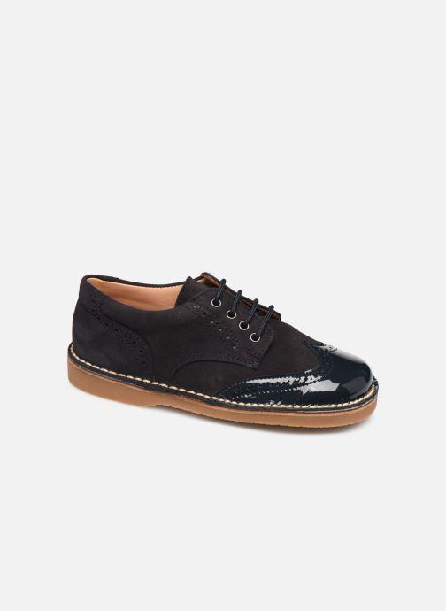 Snøresko Cendry Louis Blå detaljeret billede af skoene