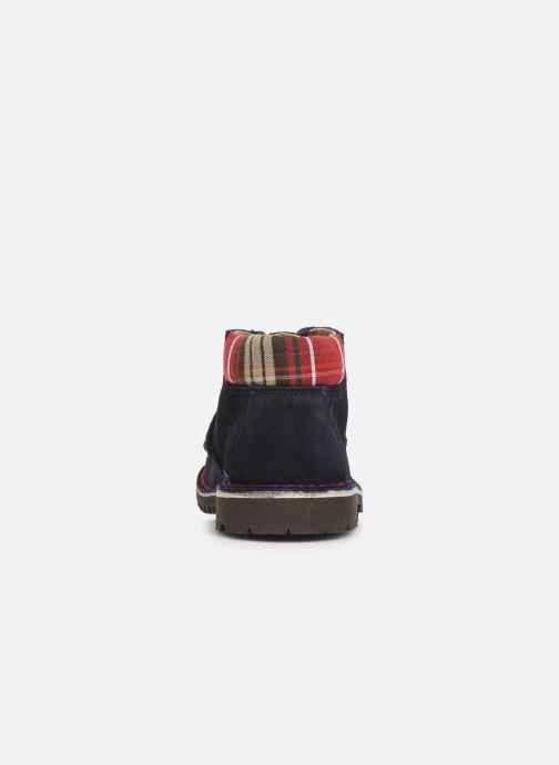 Zapatos con cordones Cendry Anatole Azul vista lateral derecha