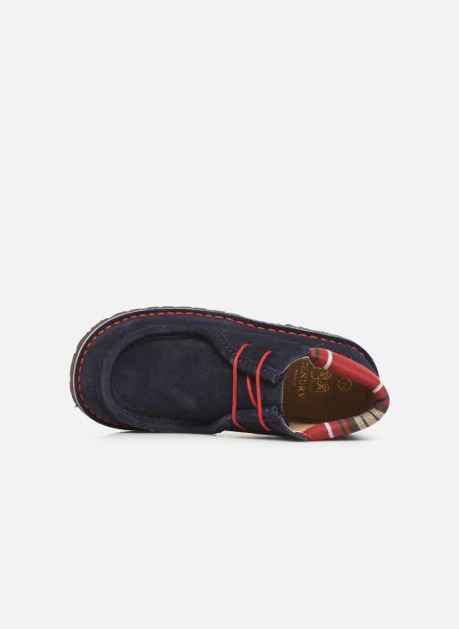 Zapatos con cordones Cendry Anatole Azul vista lateral izquierda