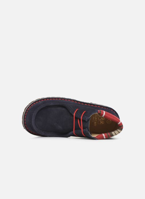 Lace-up shoes Cendry Anatole Blue view from the left