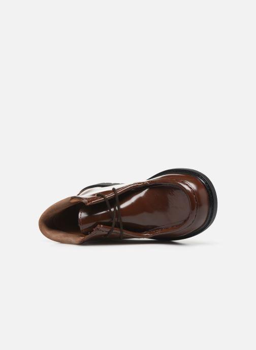Zapatos con cordones Cendry Anatole Marrón vista lateral izquierda