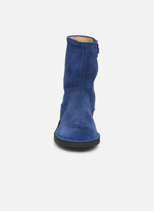 Bottes Cendry Julie Bleu vue portées chaussures