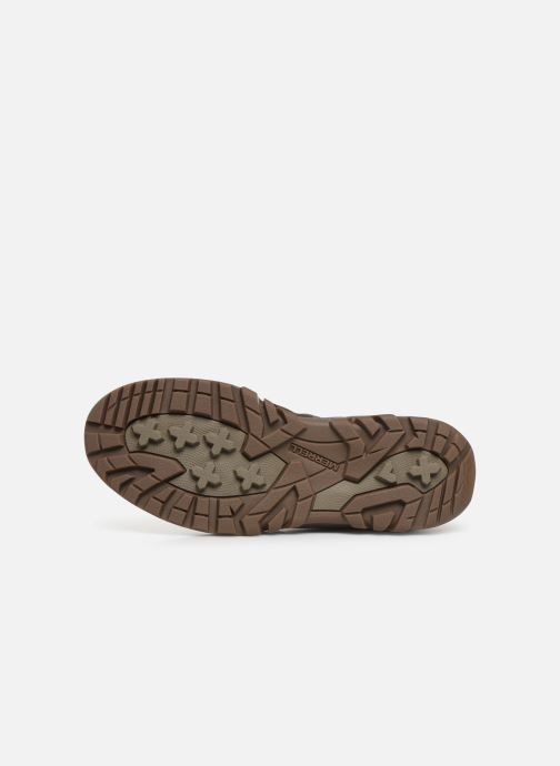 Sport shoes Merrell ANVIK PACE CHUKKA Brown view from above
