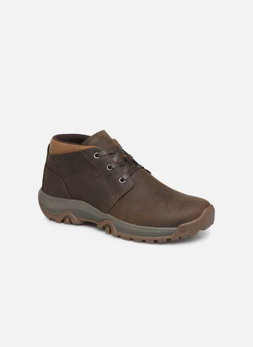 Chaussures de sport Merrell ANVIK PACE CHUKKA Marron vue détail/paire