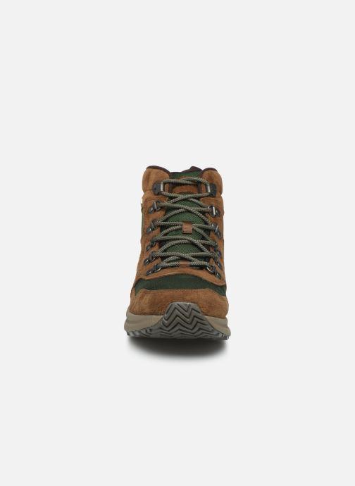 Chaussures de sport Merrell ONTARIO 85 MID WP Marron vue portées chaussures
