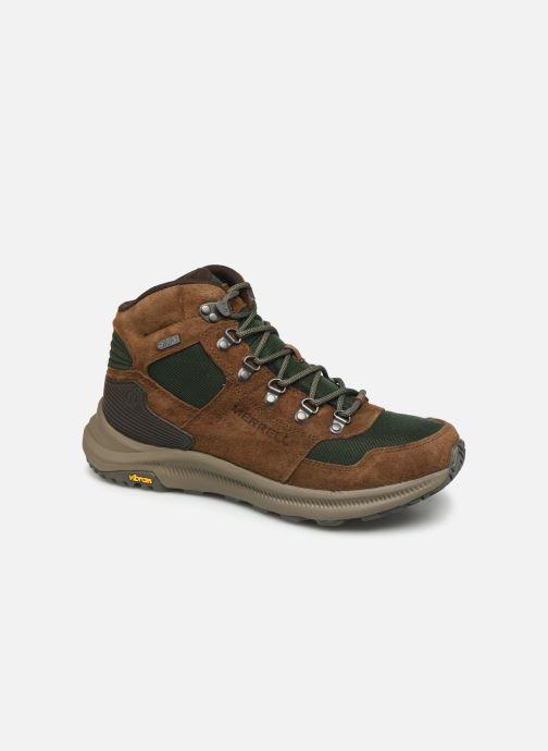 Chaussures de sport Merrell ONTARIO 85 MID WP Marron vue détail/paire