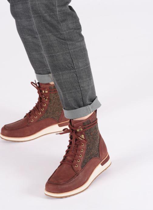 Chaussures de sport Merrell ROAM MID Bordeaux vue bas / vue portée sac