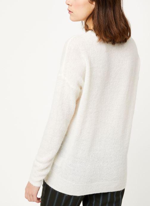 Vêtements MOSS COPENHAGEN Femme Alpaca Pullover Blanc vue portées chaussures