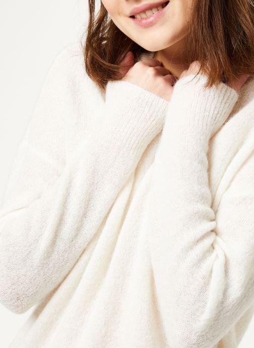 Vêtements MOSS COPENHAGEN Femme Alpaca Pullover Blanc vue face