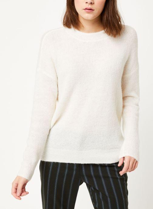 Vêtements MOSS COPENHAGEN Femme Alpaca Pullover Blanc vue droite