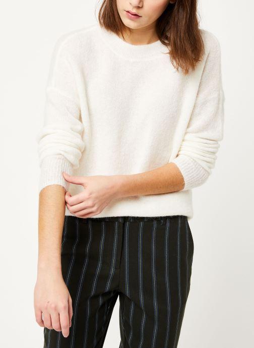 Vêtements MOSS COPENHAGEN Femme Alpaca Pullover Blanc vue détail/paire