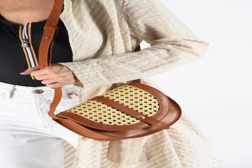 Sacs à main I Love Shoes LINAGE Marron vue bas / vue portée sac