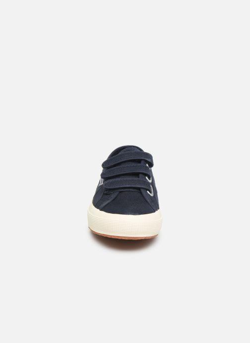Baskets Superga 2750 Cot 3 Strapu W C Bleu vue portées chaussures