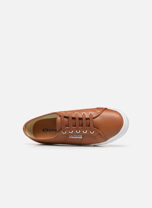Sneaker Superga 2730 Nappa Leau C braun ansicht von links
