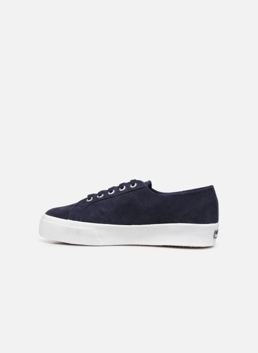 Baskets Superga 2730 Sueu C Bleu vue face