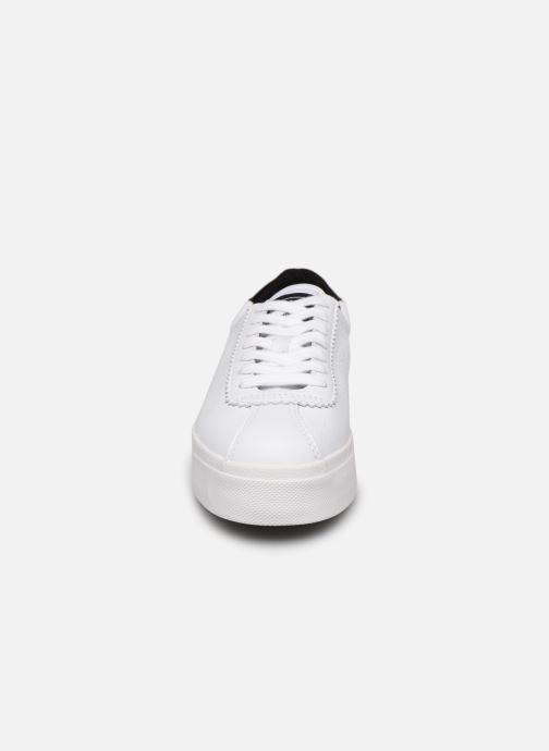 Baskets Superga 2854 Club 3 Lea W C Blanc vue portées chaussures