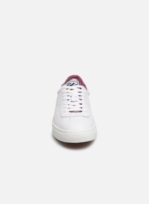 Baskets Superga 2843 Comf Lea Lame W C Blanc vue portées chaussures