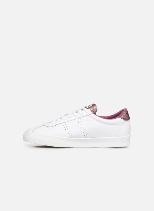 Sneakers Superga 2843 Comf Lea Lame W C Wit voorkant