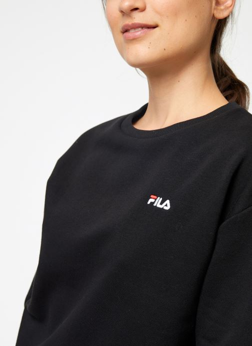 Vêtements FILA Effie Crew Sweat W Noir vue face