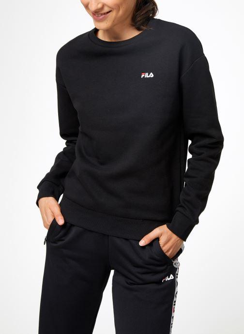 Vêtements FILA Effie Crew Sweat W Noir vue droite