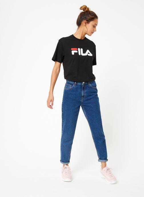 Vêtements FILA Pure Short Sleeve Shirt W Noir vue bas / vue portée sac