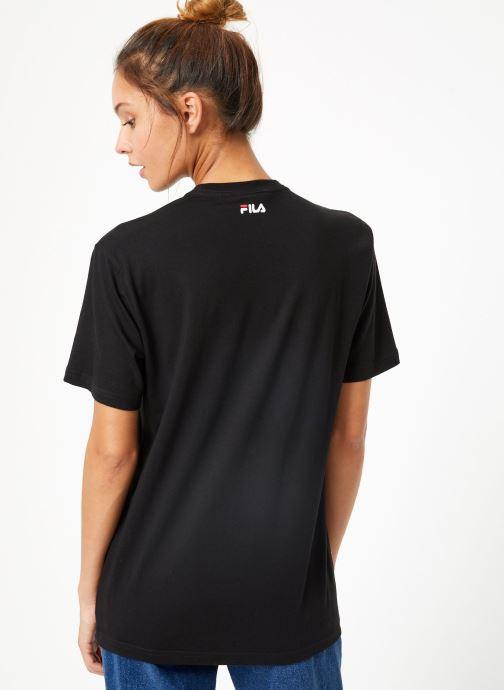 Vêtements FILA Pure Short Sleeve Shirt W Noir vue portées chaussures