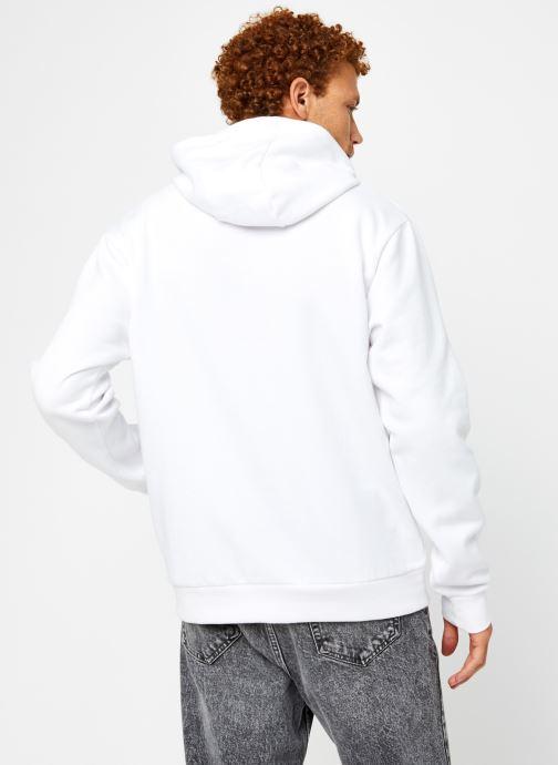 Vêtements FILA Edison Hoody Blanc vue portées chaussures