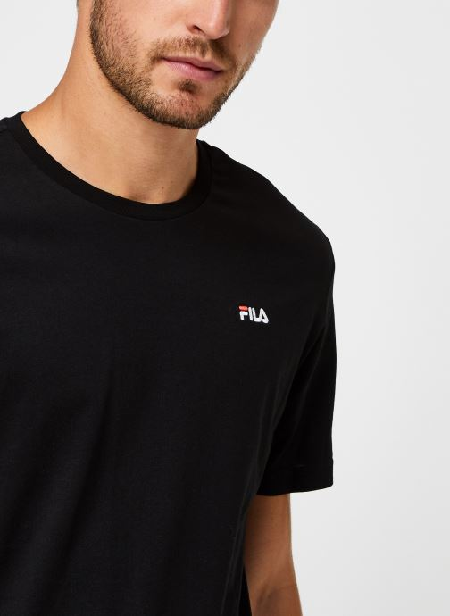 Vêtements FILA Efim t-shirt Noir vue face