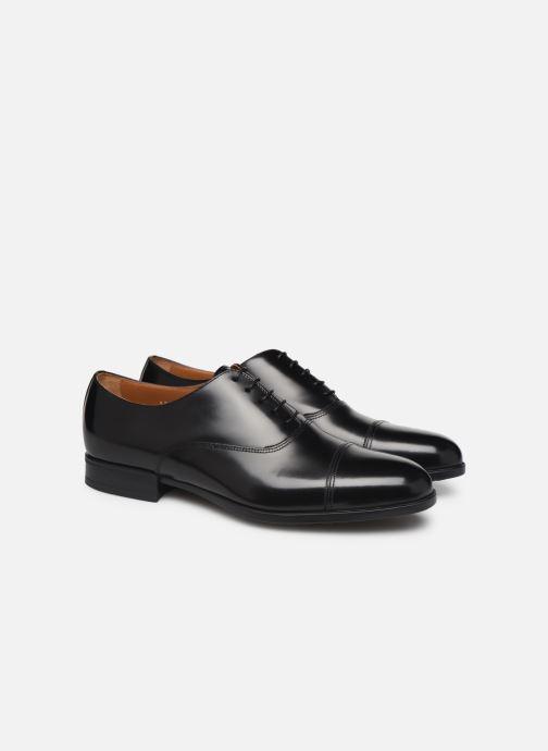 Zapatos con cordones Doucal's OXFORD CAP TOE Negro vista 3/4