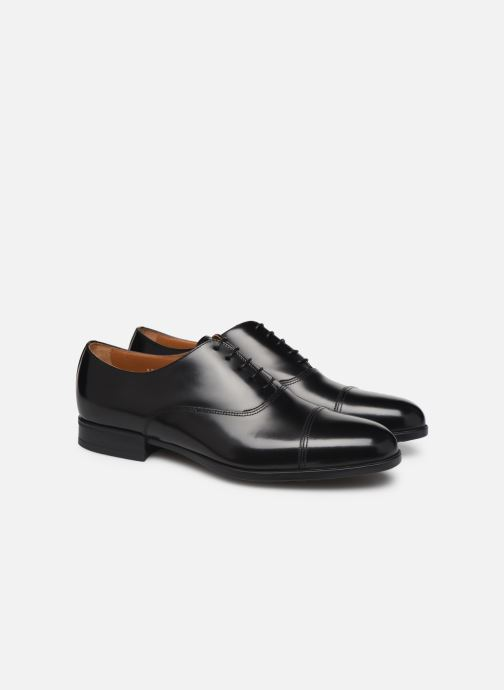 Zapatos con cordones Doucal's OXFORD CAP TOE Negro vista 3/4