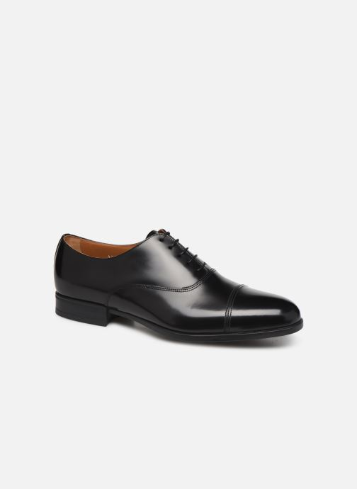 Chaussures à lacets Doucal's OXFORD CAP TOE Noir vue détail/paire
