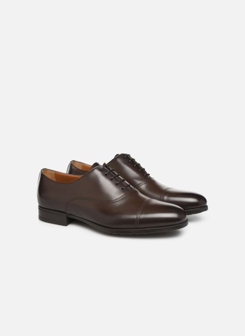 Chaussures à lacets Doucal's OXFORD CAP TOE Marron vue 3/4