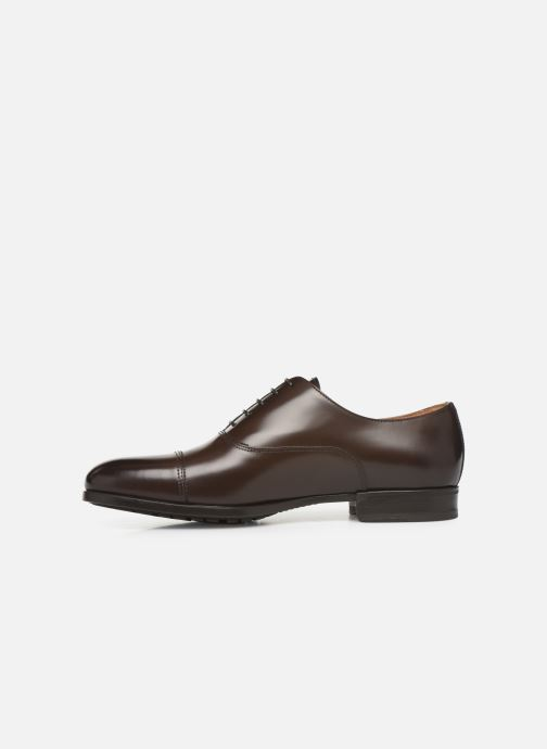 Lace-up shoes Doucal's OXFORD CAP TOE Brown front view