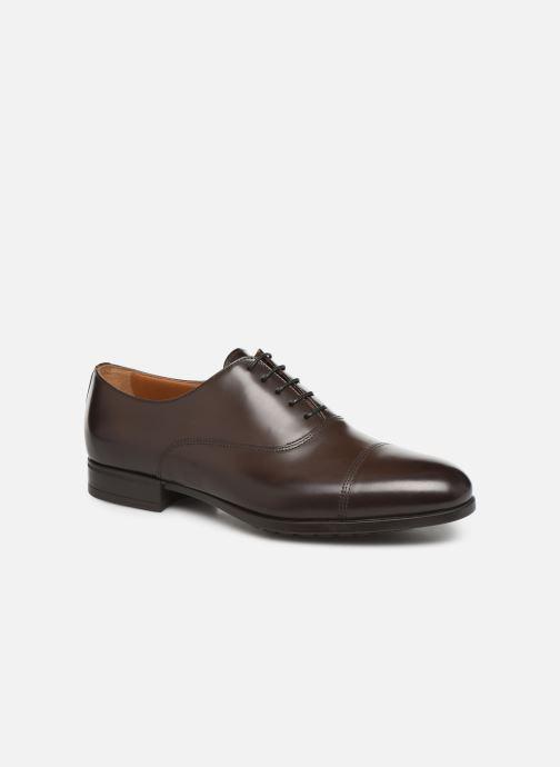 Snøresko Doucal's OXFORD CAP TOE Brun detaljeret billede af skoene