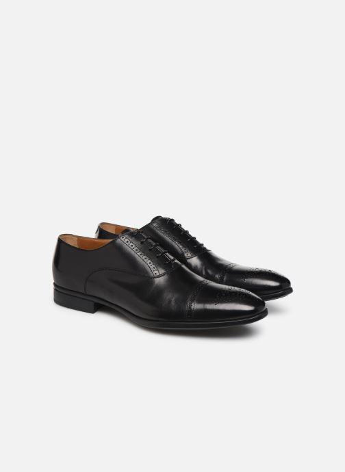 Chaussures à lacets Doucal's OXFORD CAP TOE Noir vue 3/4