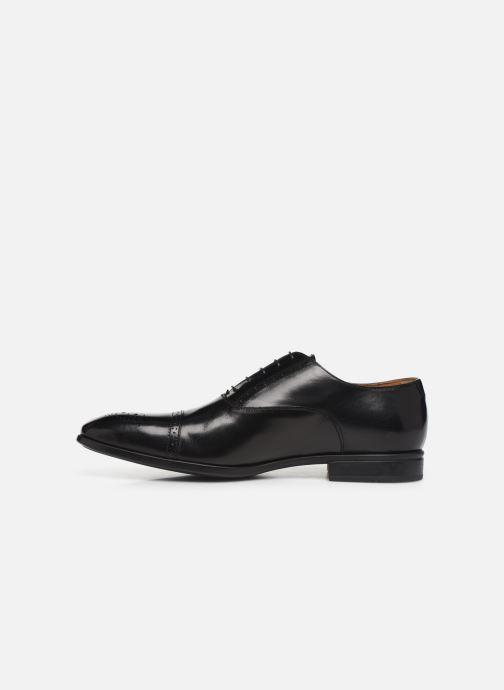 Lace-up shoes Doucal's OXFORD CAP TOE Black front view